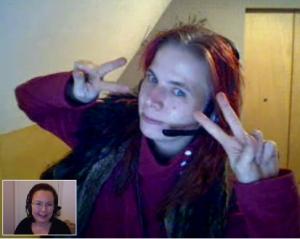 Yoe ja Tuija Skypessä